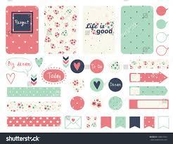 set creative cards design tape stickers stock vector 370521449