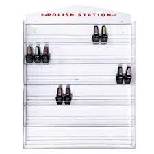 amazon com fuji acrylic nail polish wall rack organizer holds up