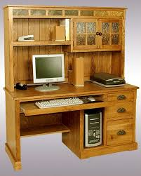 Solid Oak Desk With Hutch by Collection In All Wood Computer Desk With Solid Wood Computer Desk