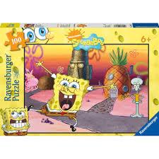 ravensburger spongebob squarepants xxl 100 piece puzzle 6 40
