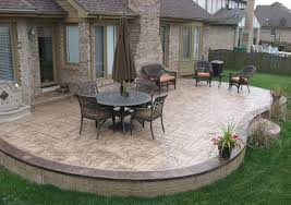 Concrete Backyard Ideas Backyard Stamped Concrete Patio Ideas Walkers Concrete Llc