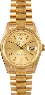rolex presidential day date 18078 bark accents