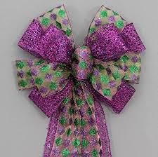mardi gras bow harlequin purple mesh mardi gras bow 10 wide handmade