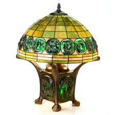 tiffany style mika turtleback double lit table lamp free