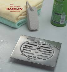 shower floor drains and drain cover for repair hotel bathroom