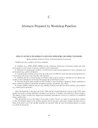 Northrop Grumman Resume Appendix C Abstracts Prepared By Workshop Panelists Severe