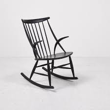 Early American Rocking Chair Iw3 Rocking Chair By Illum Wikkelsø For Eilersen 1958 For Sale At