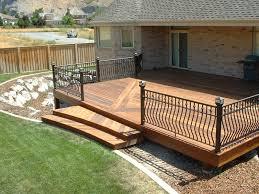 Backyard Wood Deck Wood Decking Fence U0026 Deck Supply