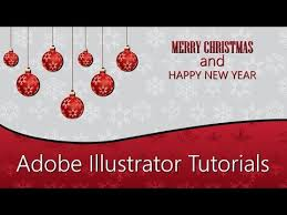 illustrator tutorial merry christmas card design youtube