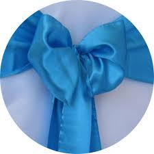 blue chair sashes chair sash rental satin sash turquoise blue chair cover rentals