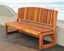 handcrafted outdoor wood bench for garden seating