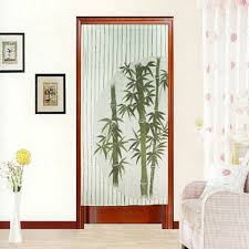 green bamboo printed door curtain tapestry room divider doorway
