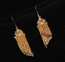 jhumka earrings with chain gold chain designer classic jhumka earring sz 5 5 cm the