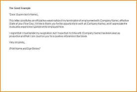 8 example of resignation letter short notice notice