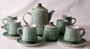 Coffee Set made ceramic coffee set photo detailed about