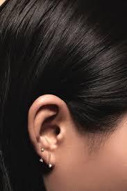 two earrings small two step chain earrings opal white diamond kick pleat