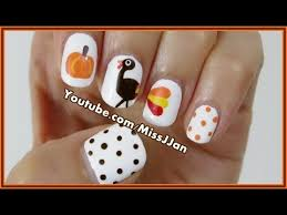 tutorial for the best thanksgiving turkey on design easy turkey thanksgiving nail tutorial nails