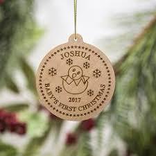 Custom Baby Ornaments Custom Birch Ornament Snowflake Name Ornament Personalized