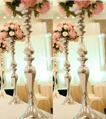 wedding table decorations candle holders new metal electroplate silver mermaid vase table centerpiece candle