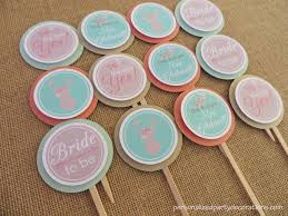 bridal cupcakes boho bridal shower cupcake toppers