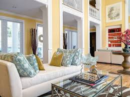 Pale Yellow Curtains by Interior Design Stylish Yellow Living Room Design With White