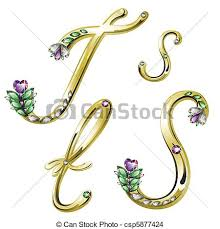 s jewelry gold jewelry alphabet letters s t vector volume shiny gold eps