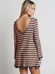 free people womens counting stripes swing tunic in gray lyst