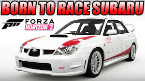 subaru cars white forza horizon 2 custom cars 11