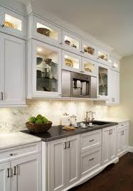 white kitchen cabinets with glass doors on top glass cabinets houzz