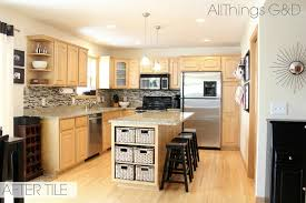 kitchen paint colors with honey maple cabinets going gray all things g d
