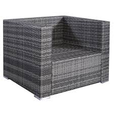 Patio Furniture Cushion Covers - costway 6pc patio sofa furniture set pe rattan couch outdoor