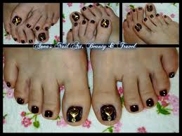 studs hearts and plum toe nail design youtube