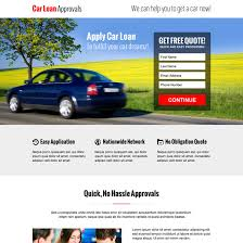hassle free car loan approval lead capture converting responsive