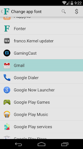 how to change the font on android how to change fonts on a per app basis for android nexus