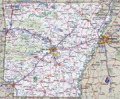 Highway Map Usa by Large Detailed Roads And Highways Map Of Arkansas State With All