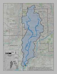 Illinois Flooding Map by Dupage River