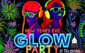 glow party new year s glow party at the garden