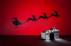 deliver presents santas sledge on his way to deliver presents stock photo picture