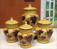 grape canister sets kitchen kitchen decorative kitchen canisters sets gallery including