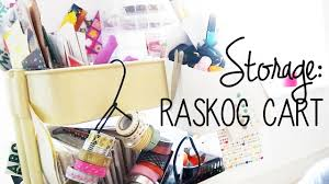 Raskog Cart Scrapbook Storage Tour Raskog Cart Organisation Youtube