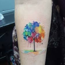 watercolor tree on arm best ideas gallery