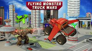 monster truck video game flying monster truck wars by evolution game android gameplay hd