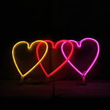 neon party heart neon light sign christmas decorations for home decor