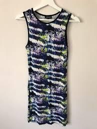 topshop dress topshop tie die printed bodycon dress vinted co uk