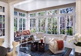 cottage living room with interior wallpaper u0026 window seat zillow