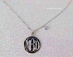 monogram locket monogram cz necklace incorporated