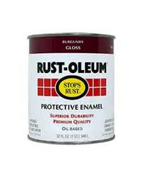 rust oleum stops rust gloss burgundy protective enamel 1 qt at