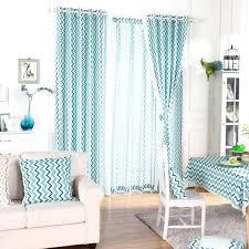 Curtains For Brown Living Room Creative Aqua Curtains Living Room Blue Chevron Print Linen