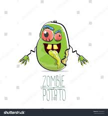 halloween background funny vector funny cartoon cute green zombie stock vector 706356523