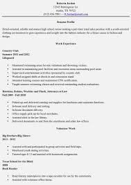 cover letter for high graduate resume for high
